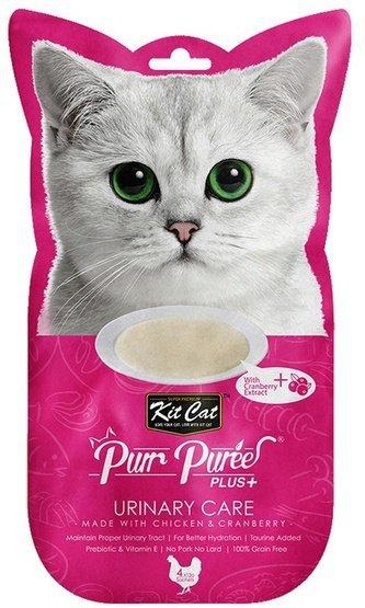 Kit Cat PurrPuree Plus+ Chicken Urinary Care 4x15g