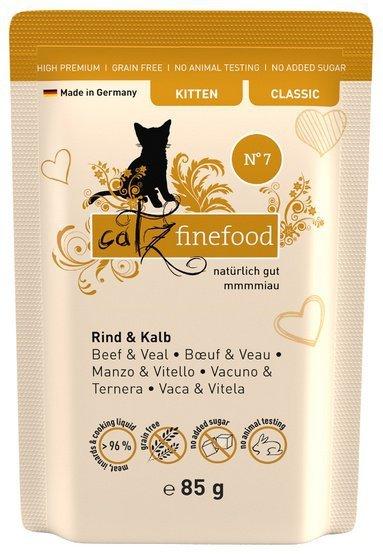 Catz Finefood Kitten N.07 Wołowina i cielęcina saszetka 85g