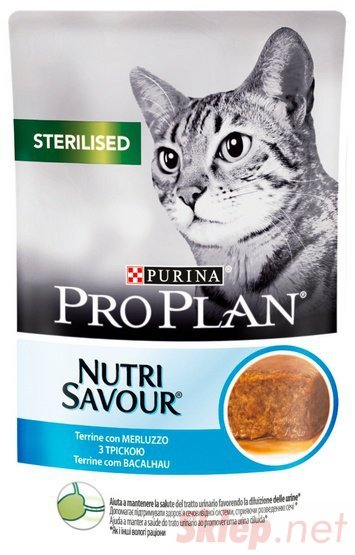 Purina Pro Plan Cat Sterilised dorsz saszetka 85g
