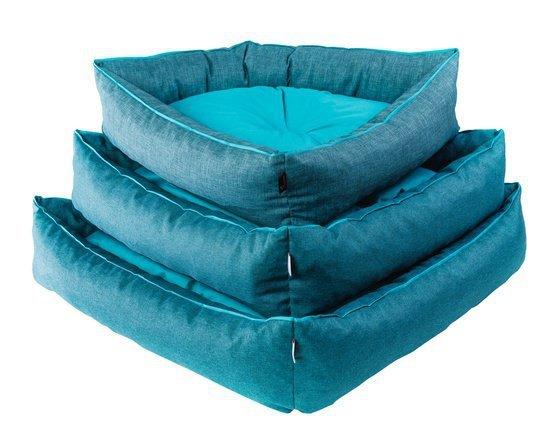 Diversa Legowisko Corner M turkus-niebieski