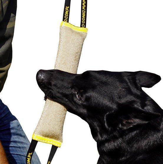 Dingo Zabawka dla psa - Szarpak z juty z dwoma uchwytami Extra Mocny 60/8cm