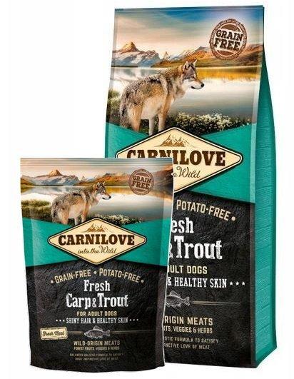 Carnilove Dog Fresh Carp & Trout Adult - karp i pstrąg 1,5kg