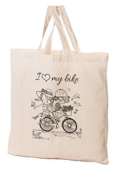 Torba bawełniana 38x42x10cm Jaś i Małgosia - rower