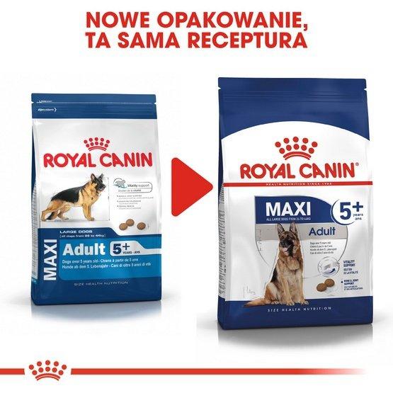 Royal Canin Maxi Adult 5+ karma sucha dla psów starszych, od 5 do 8 roku życia, ras dużych 15kg