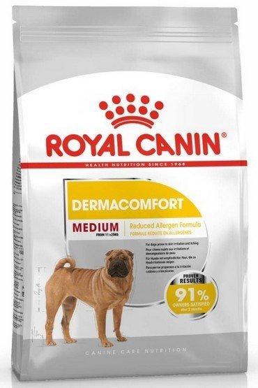 Royal Canin Medium Dermacomfort karma sucha dla psów dorosłych, ras średnich o wrażliwej skórze 3kg