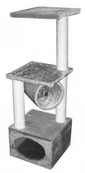 Yarro Drapak Rollo 109cm z budką 35x35cm szary [Y1106]