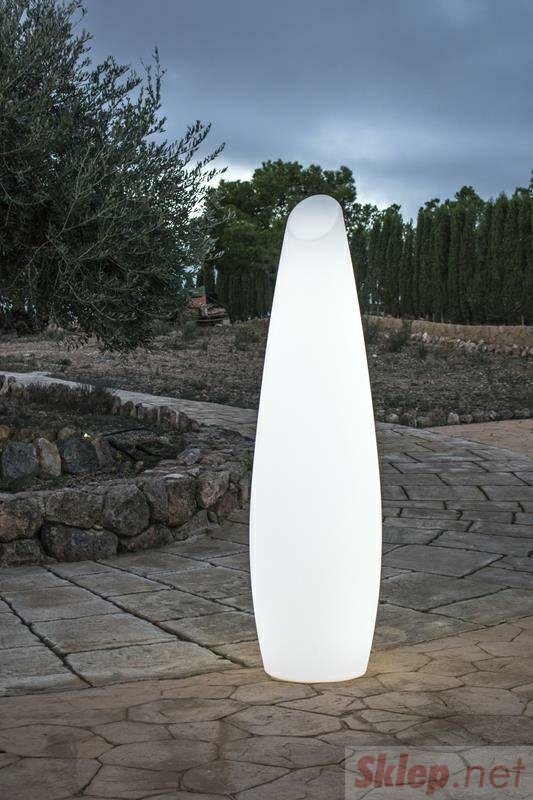 NEW GARDEN lampa ogrodowa FREDO 170 C biała - LED