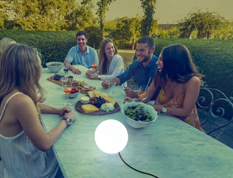 NEW GARDEN lampa ogrodowa BULY 50 biała - LED