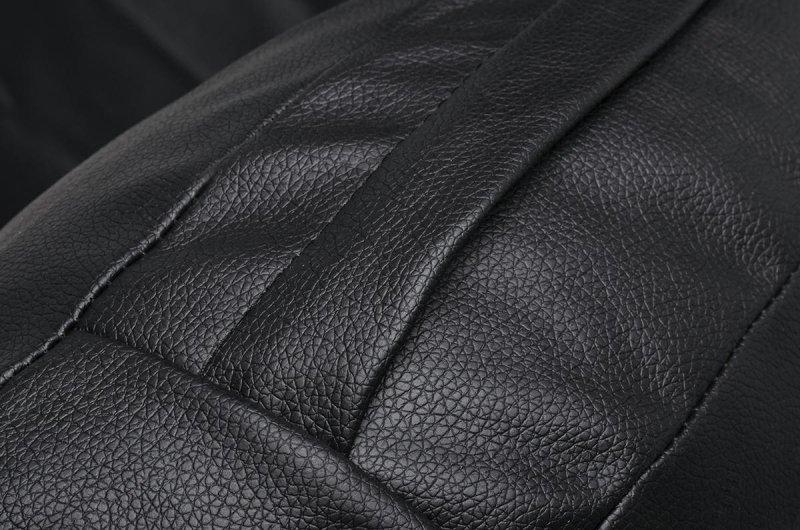 Fotel BUBBLE STAND poduszka czarna - podstawa chrom, korpus akryl, poduszka ekoskóra