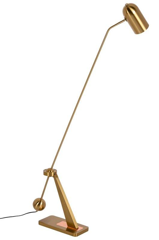 Lampa podłogowa CRANE złoto-miedziana - stal węglowa