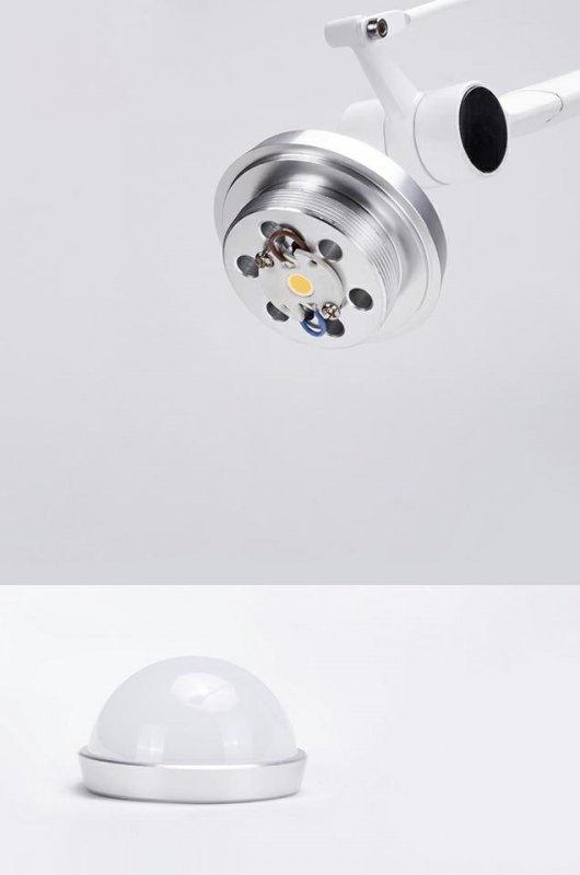 Kinkiet RAYON ARM WALL biały - LED, klosz z akrylu