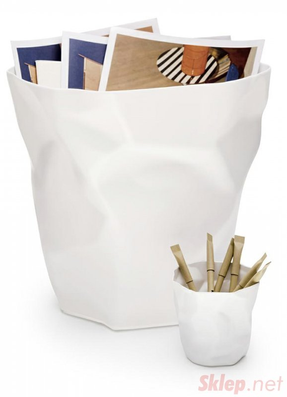 Kosz na śmieci PLAST biały
