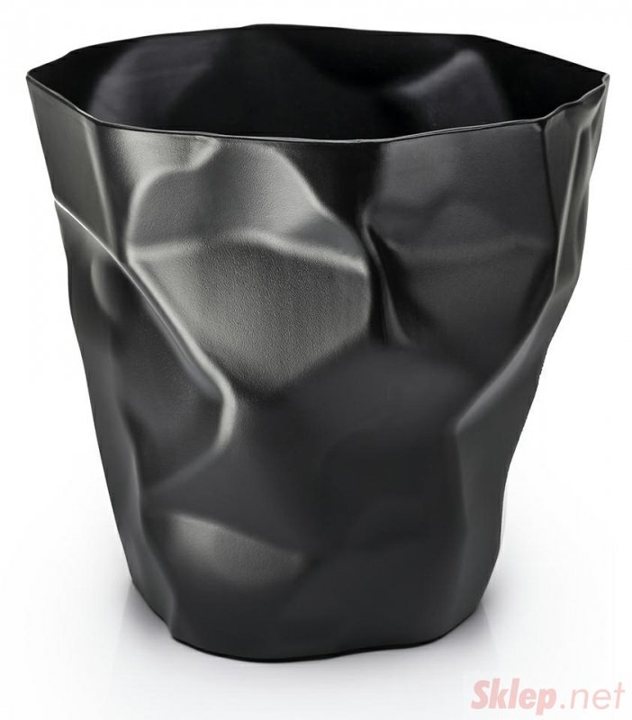 Kosz na śmieci PLAST czarny
