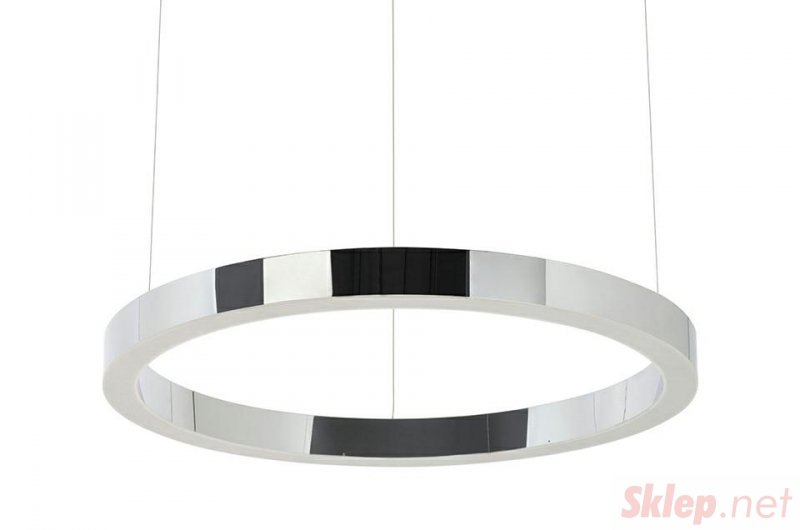 Lampa wisząca RING 60 srebrna - LED, stal polerowana