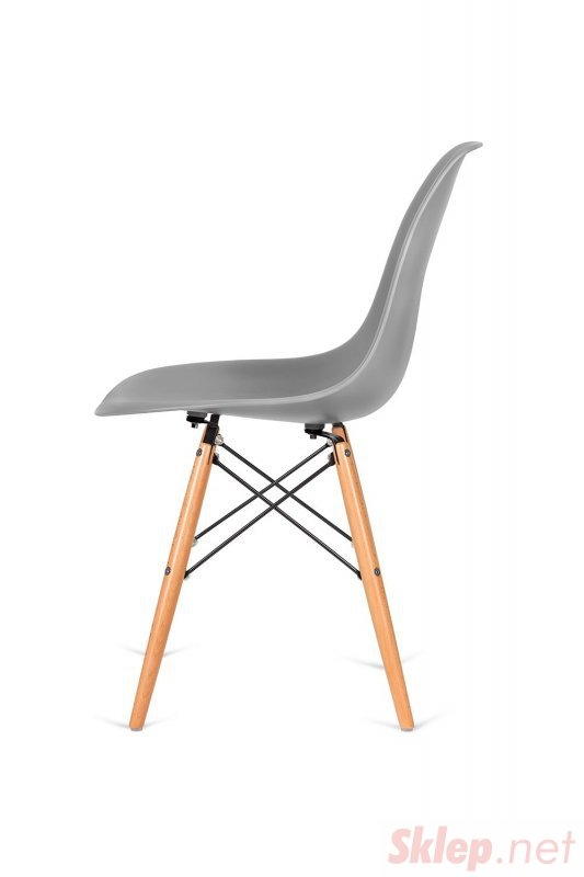 Krzesło DSW WOOD szare.30 - podstawa drewniana bukowa