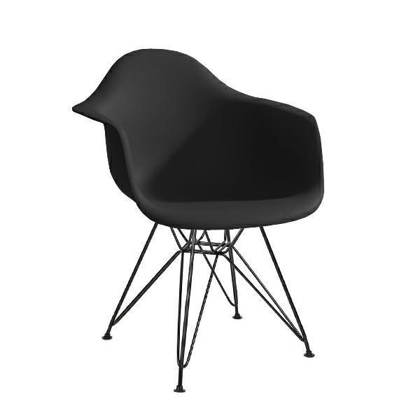 Fotel DAR BLACK czarny.03 - polipropylen, podstawa czarna
