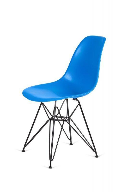 Krzesło DSR BLACK niebieski.11 - podstawa metalowa czarna
