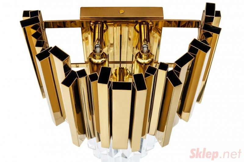 Kinkiet IMPERIAL WALL GOLD - stal, kryształ
