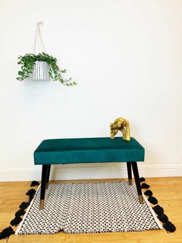 Ławka CASTLE VELVET zielona