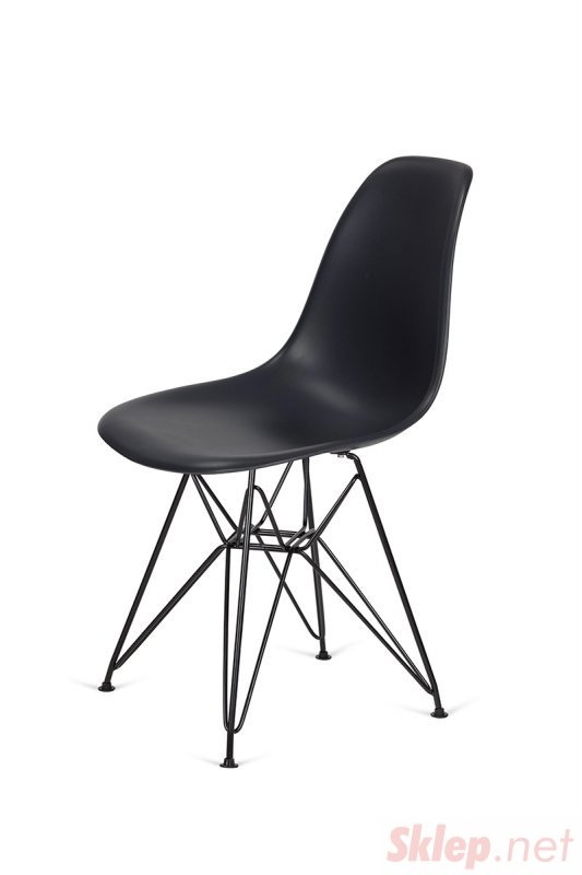 Krzesło DSR BLACK antracytowy.39 - podstawa metalowa czarna