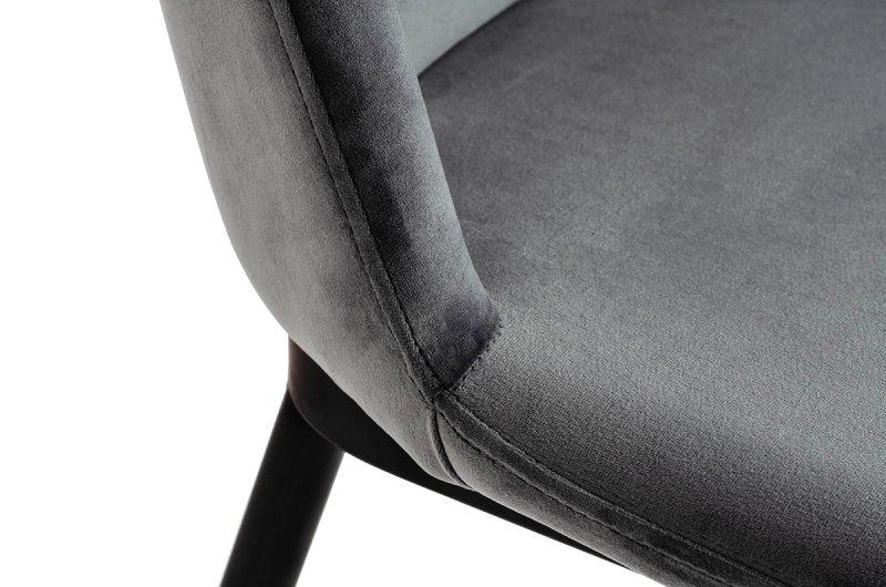 Krzesło DIEGO ciemny szary - welur, podstawa czarno złota