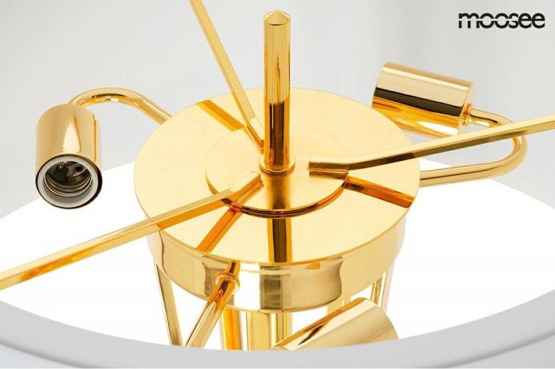 MOOSEE lampa podłogowa SNITCH FLOOR  - złota podstawa, biały klosz