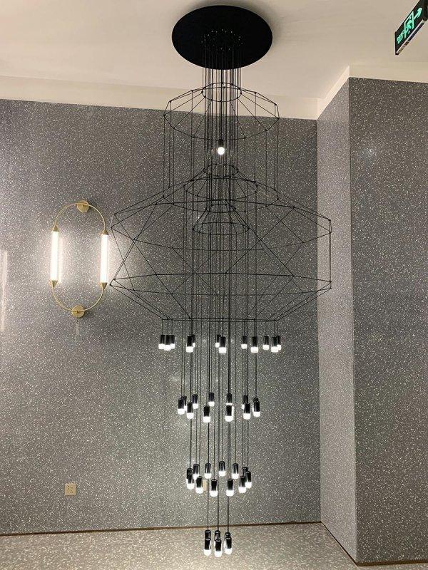 Lampa wisząca FLUSSO 43 GRANDE czarna