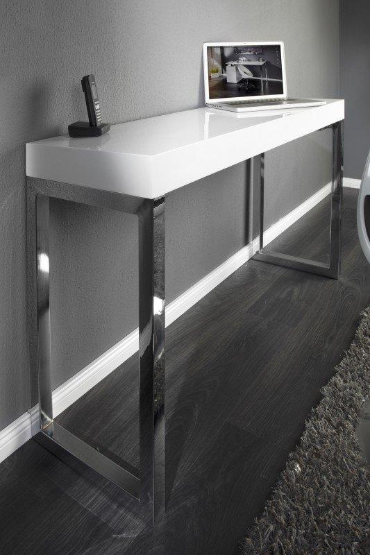 INVICTA biurko VERK 120x40 białe - stal
