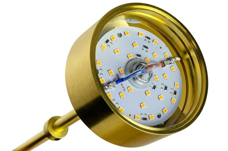 Lampa podłogowa CAPRI FLOOR 6 złota - 120 LED, aluminium, szkło