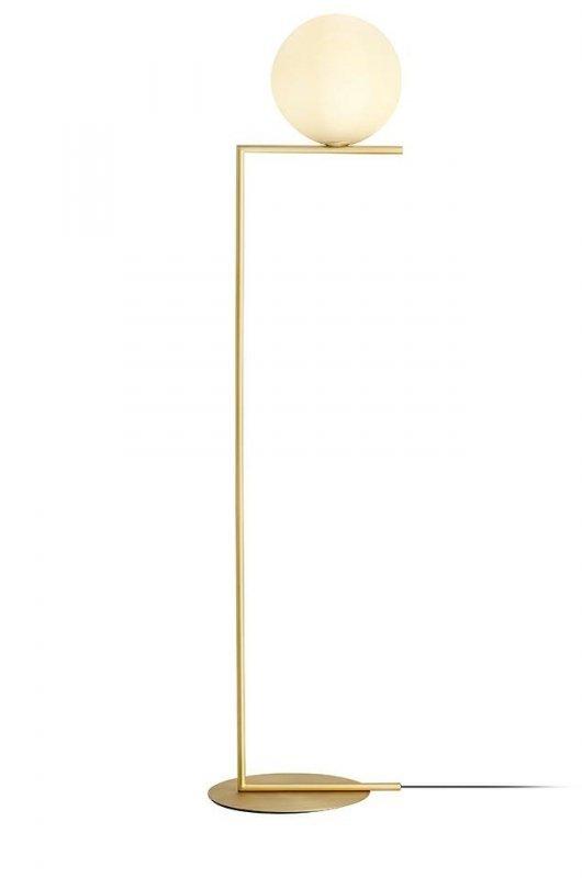 Lampa podłogowa HALM FLOOR - mosiądz, szkło