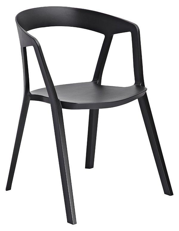 Krzesło VIBIA czarne - polipropylen