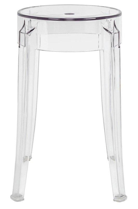 Stołek CHARLES 46 transparentny - poliwęglan