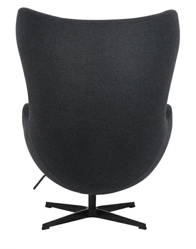 Fotel EGG CLASSIC BLACK ciemny szary.5 - wełna, podstawa czarna
