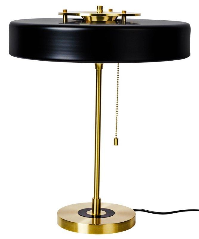 Lampa biurkowa ARTE czarna - aluminium, szkło