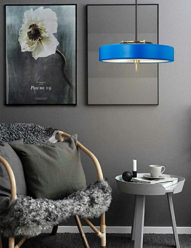Lampa wisząca ARTE niebieska - aluminium, metal
