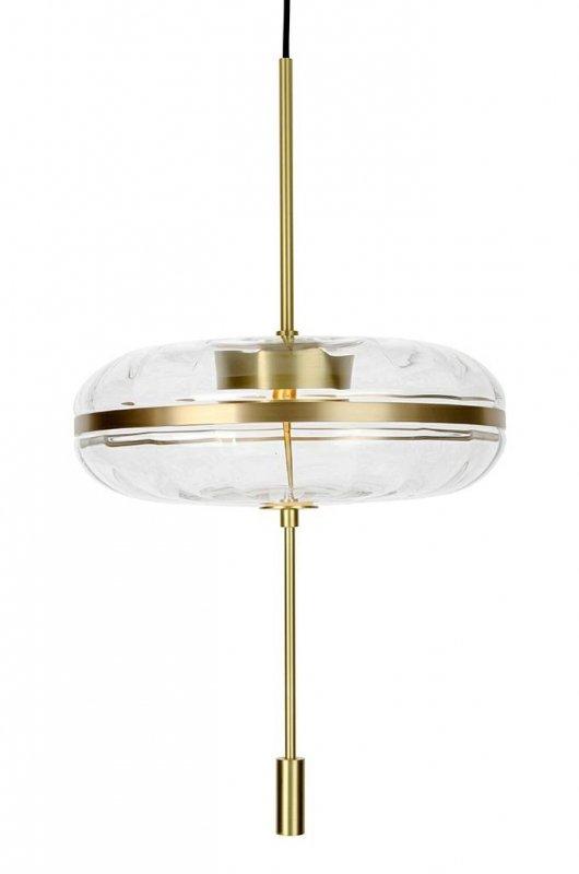 Lampa wisząca CHAPLIN 360 mosiądz - LED, szkło