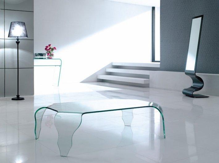 Stolik szklany VENDO transparentny, drugiej kategorii - szkło