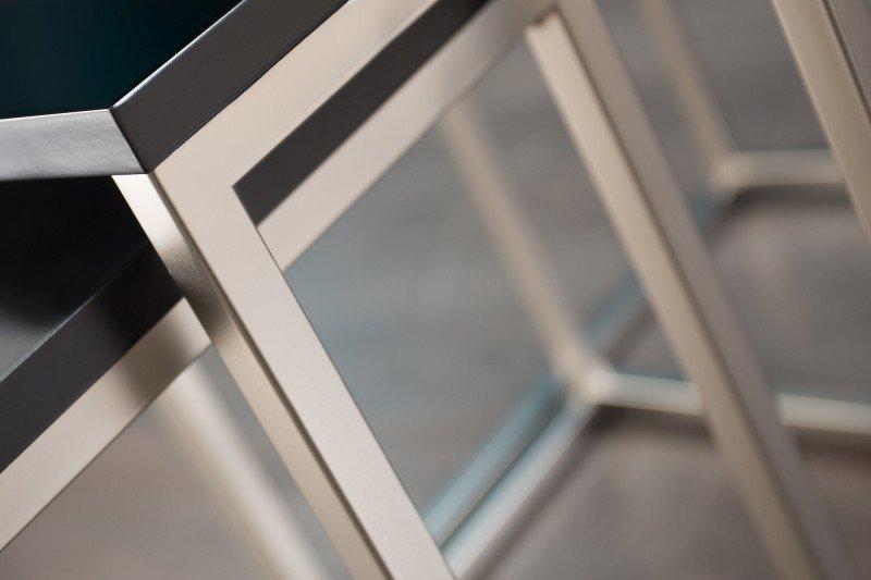 Zestaw stolików TRIO SLIM czarne - podstawa chromowana