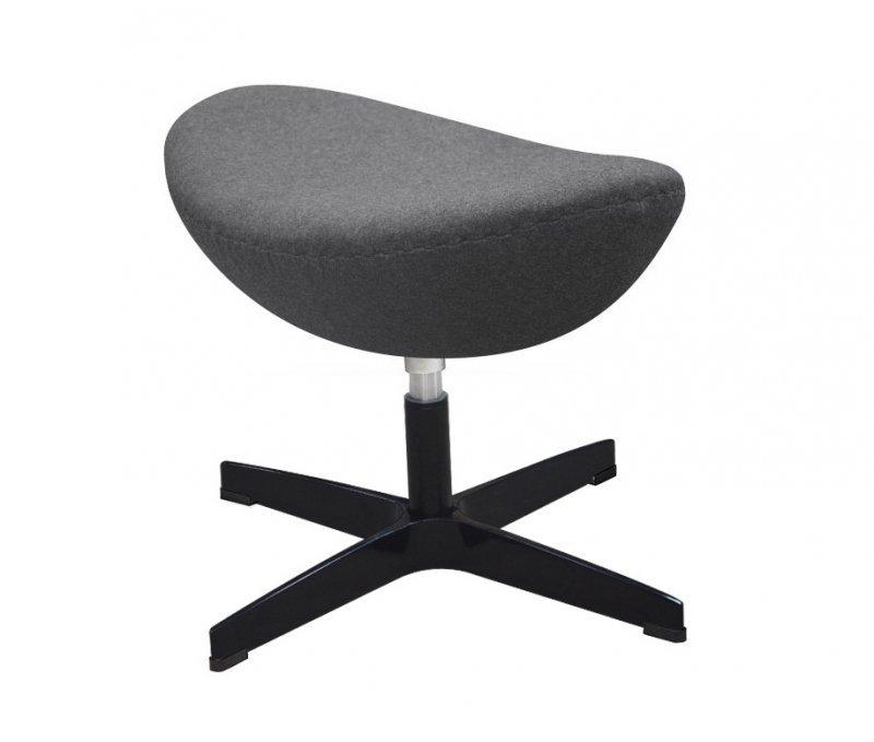 Fotel EGG CLASSIC BLACK z podnóżkiem - grafitowy szary.4, podstawa czarna