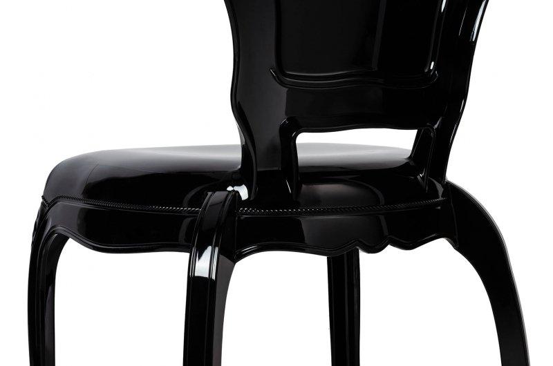 Krzesło KING czarne - poliwęglan