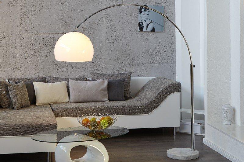 INVICTA Lampa podłogowa SLACK biała  - 175-205 cm