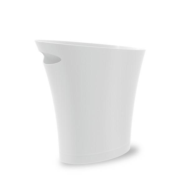 UMBRA kosz na śmieci SKINNY - metallic white