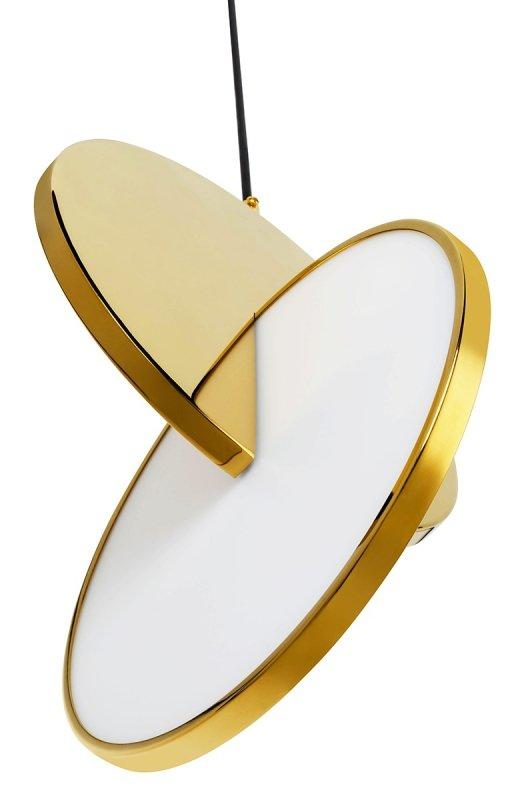 Lampa wisząca DISCO złota - LED, stal polerowana
