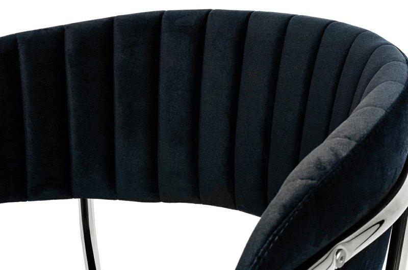 Hoker MARGO 65 czarny - welur, podstawa chromowana