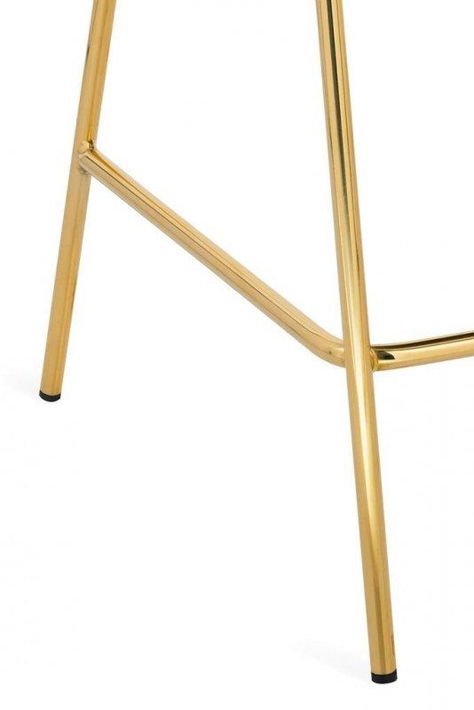 Hoker MARGO 65 beżowy - welur, podstawa złota