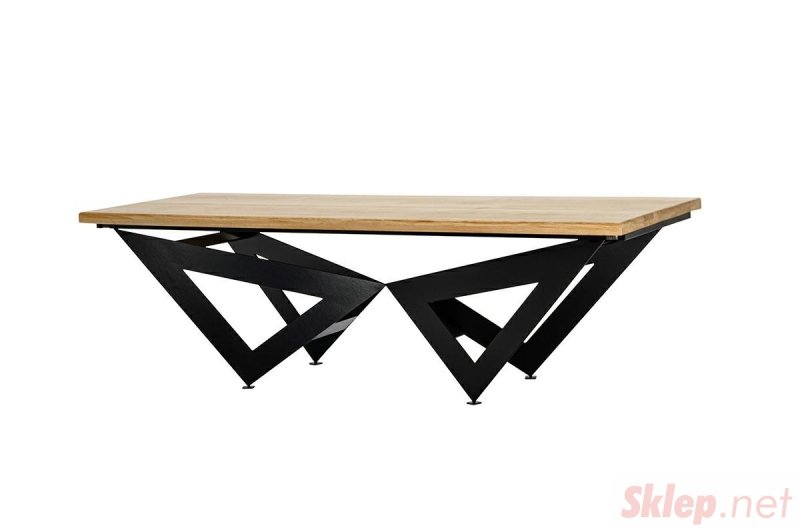 Stół rozkładany AXEL 260-340 dębowy - drewno naturalne, metal