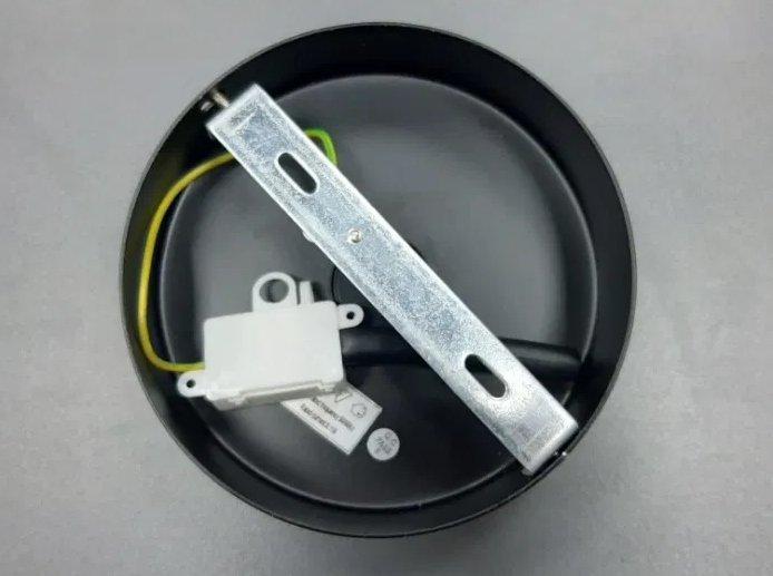 Podsufitka do lampy FI 15cm czarna - metal