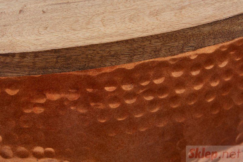 INVICTA stolik kawowy ORIENT STORAGE - 60cm, mango, aluminium