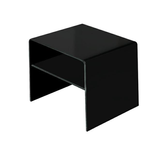 Stolik szklany IDEAL PICCOLO Black - szkło czarne