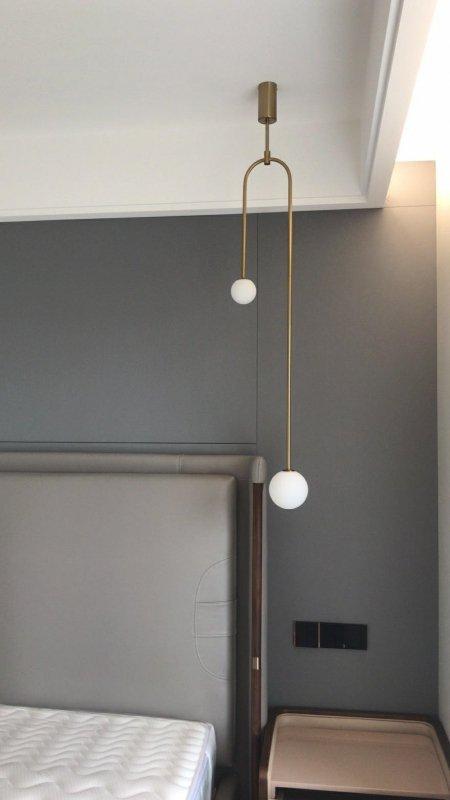 Lampa wisząca LOW złota - metal, szkło